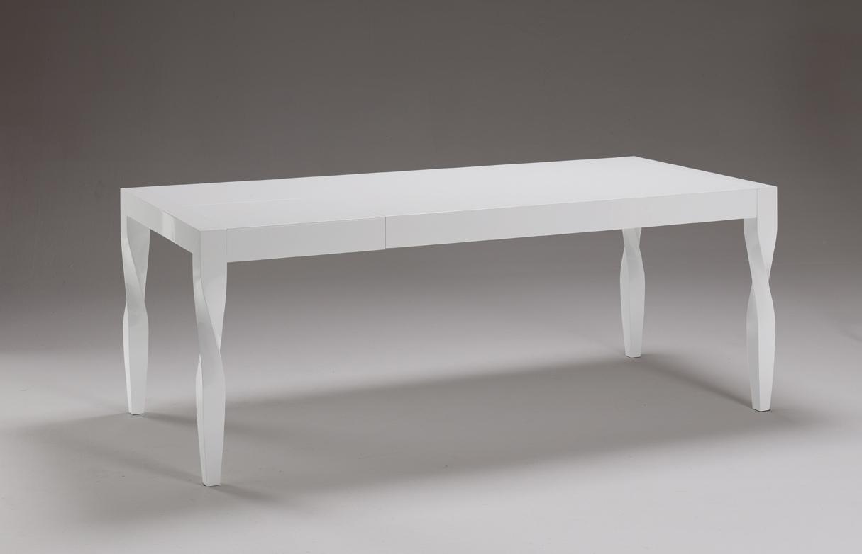 Mesa de comedor lacada blanca o negra patas vintage mesas for Comedor vintage blanco