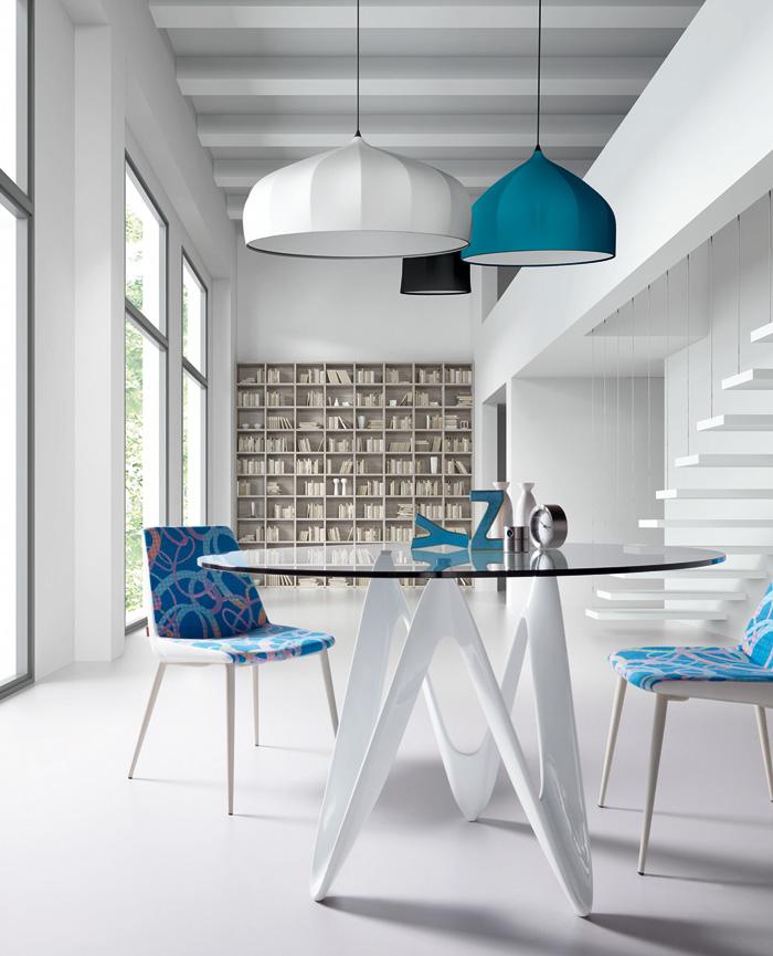 Mesa cristal redonda moderna mesa de cristal transparente - Mesa comedor cristal redonda ...