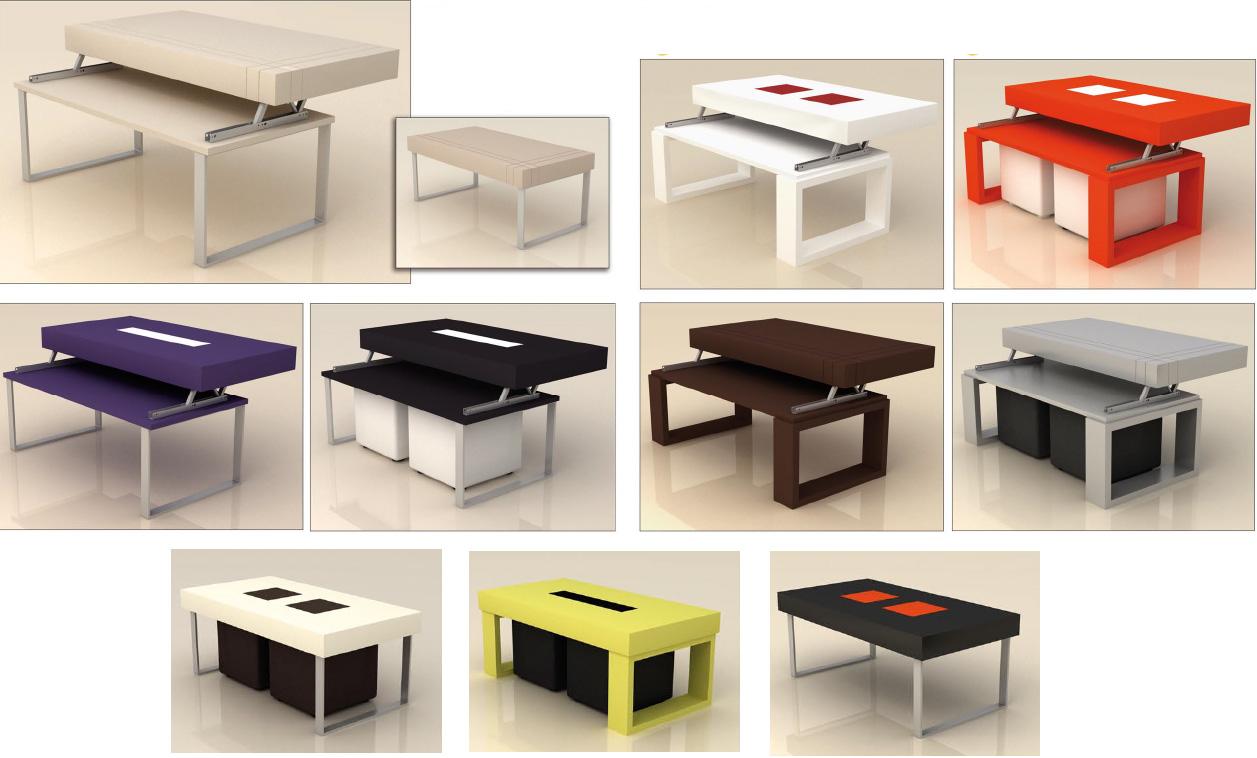 Mesa de centro con tablero abatible mesa de centro baja - Mesa centro baja ...