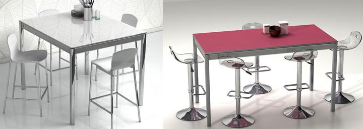 Mesas altas de cocina modernas en varios colores for Sillas de cocina modernas