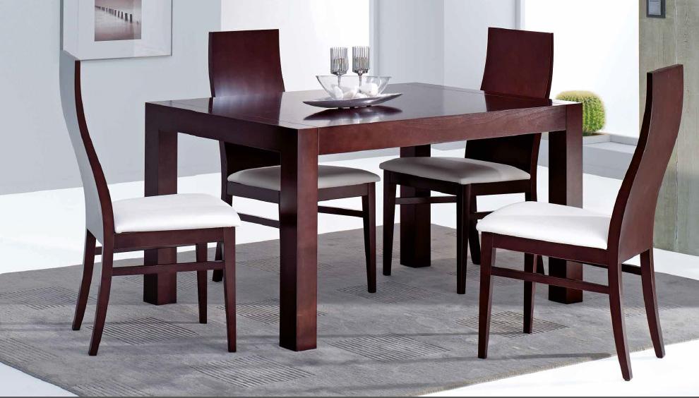 Silla moderna mesa comedor madrid for Mesa 4 sillas homecenter