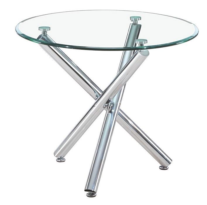 Mesa redonda de cristal y metal mesa de comedor redonda - Cristales para mesas redondas ...