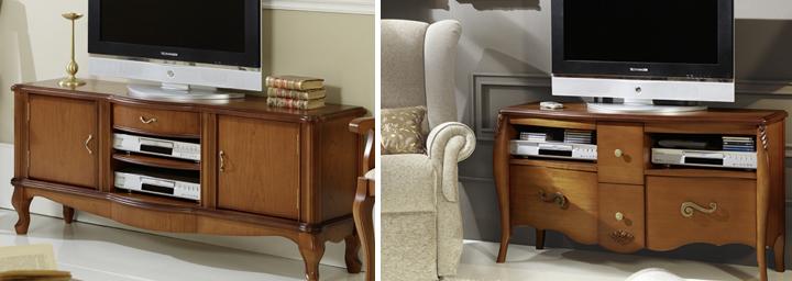 Mesa de televisi n salones modernos tienda online de muebles - Mesas de television de plasma ...