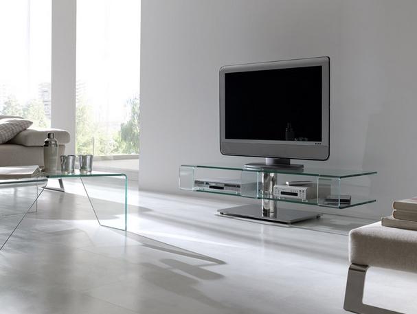 Mueble bajo de cristal para tv - Mesas de salon de cristal ...