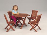 Set sillas y mesa madera modelo infantil MINIGOLF