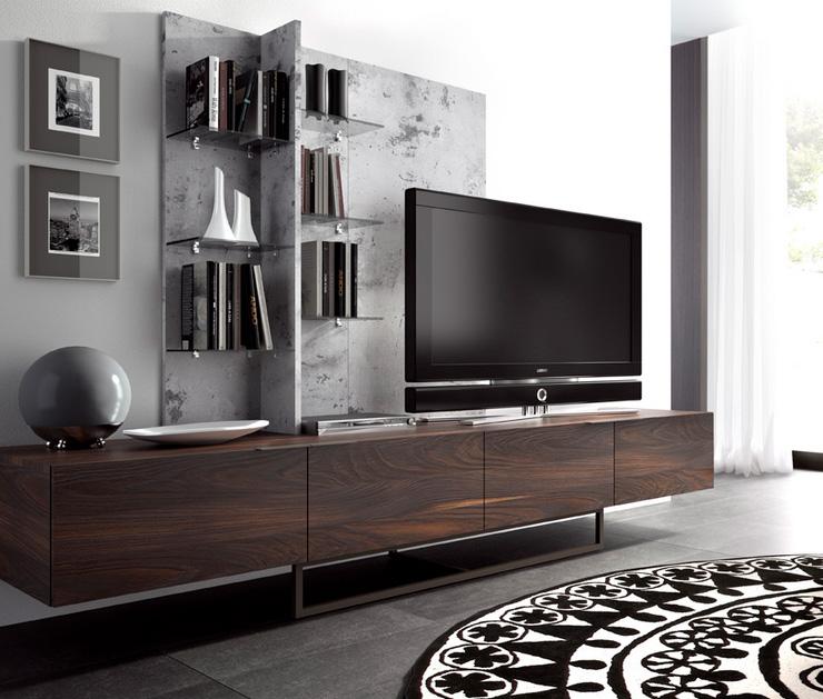 Mesa de tv madera moderno - Muebles para tv madera ...
