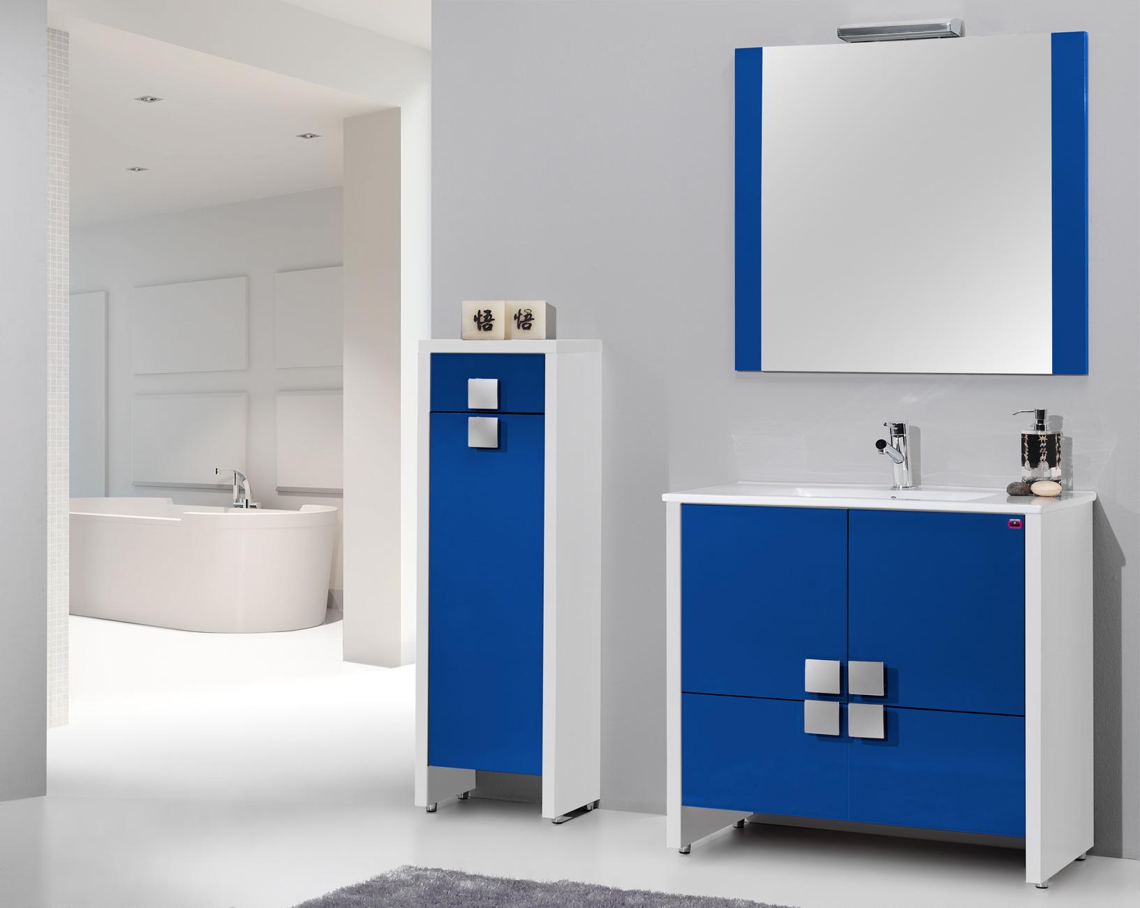 Muebles de bano azul dise os arquitect nicos for Decoracion mueble bano