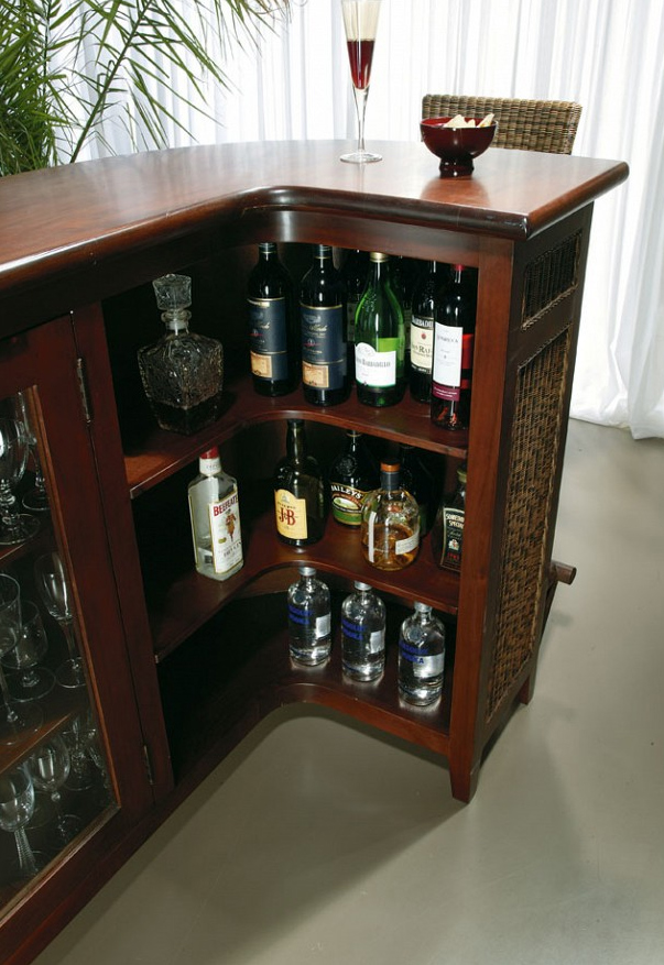 Mueble bar y taburete modelo minessota decoraci n y for Mueble bar exterior