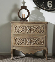 Mueble auxiliar de madera tallada - Mueble auxiliar de madera tallada Color natural