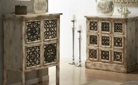 Muebles auxiliares de madera natural asiaticos