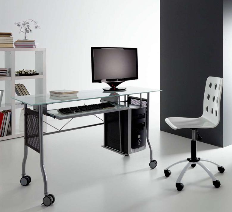 Mesa para ordenador cristal cantabria - Escritorio para ordenador ...