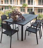 Set de comedor para exteriores con mesa extensible