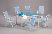 Set sillas y mesa estructura aluminio modelo NIEPER