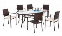 Set sillas y mesa de acero modelo NILO