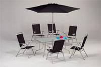 Set sillas y mesa de acero modelo NUSELA