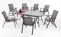 Set sillas y mesa estructura aluminio modelo ODESA