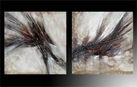 Set de dos cuadros en oleo abstracto