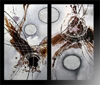 Set de dos cuadros oleo 6, set de dos cuadros