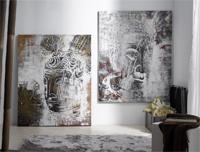 Set de dos cuadros figura buda