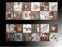 Set de dos cuadros en oleo abstracto tipo cabecero