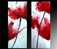 Oleos figura flores abstractas