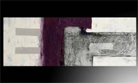 Oleo abstracto horizontal púrpura