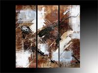 Set de tres cuadros en oleo triptico