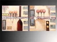 Set de cuadros Oleos flores abstractas