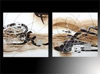 Set de dos cuadros modernos abstractos