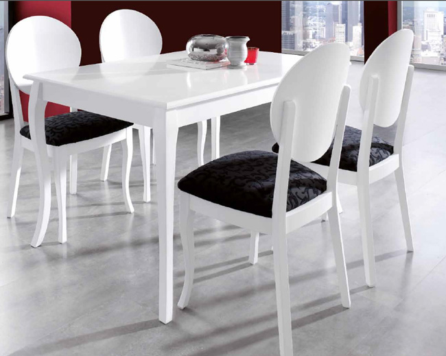 Sillas juego comedor respaldo redondo for Mesas y sillas modernas para comedor