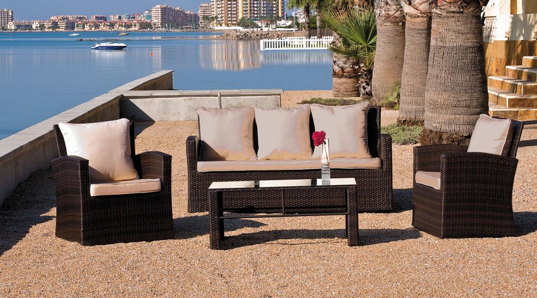 Juego sof exteriores palencia for Sofa arcon terraza
