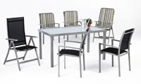 Set sillas y mesa estructura aluminio modelo PERSEO