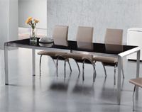 Mesa de comedor extensible rectangular 5 - Disponible en 3 acabados distintos