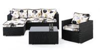 Set sillones y mesa estructura aluminio cubierto de textileno modelo PLATEA