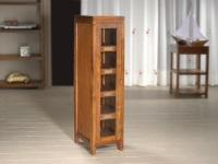 Vitrina con puerta de cristal - Vitrina de madera con 4 estantes