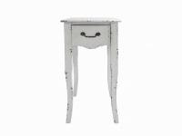 Mueble blanco con un caj�n - Mueble de pino blanco con un caj�n