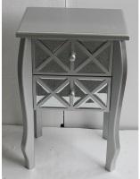Mueble de madera con dos cajones - Mueble de madera con dos cajones de espejo