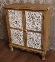 Mueble bajo de madera con 2 puertas - Mueble de madera con dos puertas