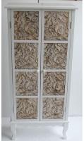 Mueble alto blanco con puertas - Mueble alto blanco con dos puertas