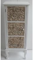Mueble de madera blanco con una puerta - Mueble de madera blanco con una puerta
