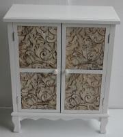 Mueble blanco de madera con 2 puertas - Mueble blanco de madera con dos puertas