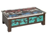 Mesa de centro vintage - Mesa de centro de madera vintage
