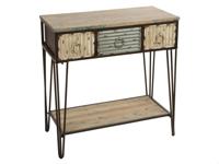 Recibidor tres cajones Vintage - Recibidor tres cajones Vintage fabricado en madera de abeto y metal