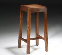 Taburete bar de madera estilo r�stico