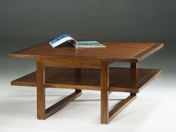Mesa de centro 2 tableros - Práctica mesa de centro 2 tableros estilo Colonial