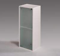 Peque�o mueble de ba�o con puerta de cristal - Peque�o mueble de ba�o con puerta de cristal