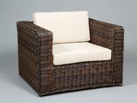 Amplios sill�n de rattan - Cojines incluidos