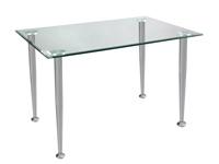 Mesa escritorio cristal con patas met�licas