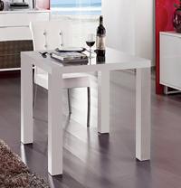 Peque�a mesa comedor cuadrada - Color blanco, patas cuadradas
