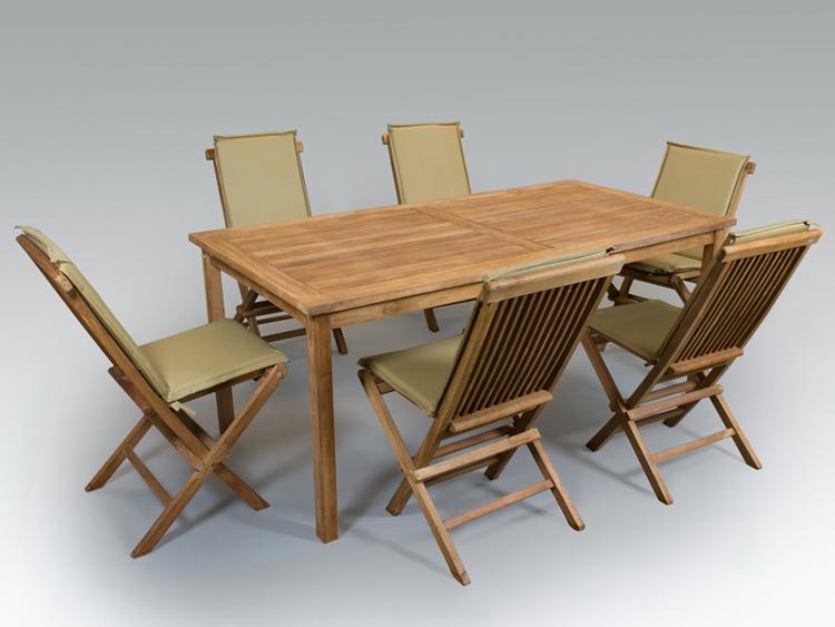 Gran juego de comedor teka muebles de terraza y jard n for Muebles terraza teka